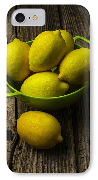 Lemon iPhone 7 Case - Bowl Of Lemons by Garry Gay