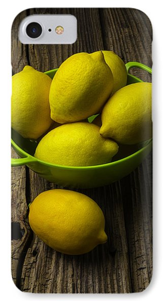 Bowl Of Lemons IPhone Case by Garry Gay