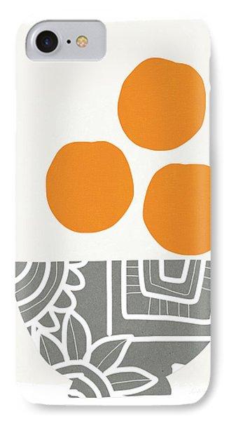 Bowl Of Oranges- Art By Linda Woods IPhone Case by Linda Woods