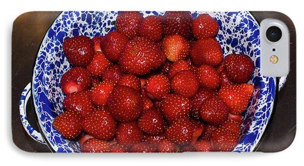 Bowl Of Strawberries 1 IPhone Case by Douglas Barnett