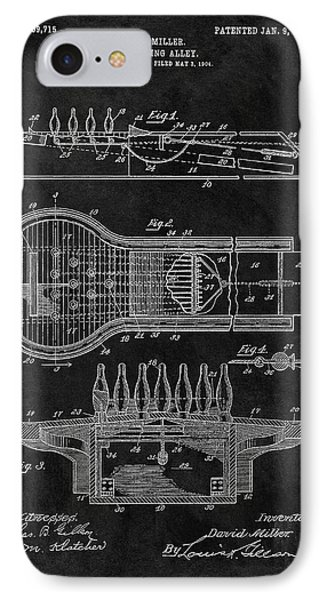 Bowling Alley Patent IPhone Case