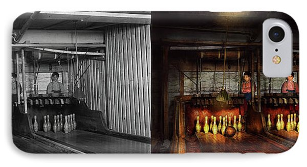 Bowling - Life In The Gutter 1910 - Side By Side IPhone Case by Mike Savad