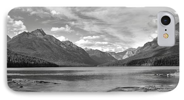 Bowman Lake Black And White Panorama IPhone Case by Adam Jewell