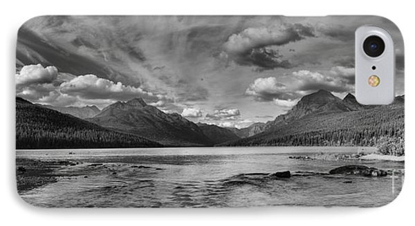 Bowman Lake Black And White Panoramic IPhone Case by Adam Jewell