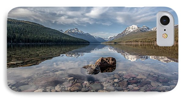 Bowman Lake Rocks IPhone Case by Aaron Aldrich