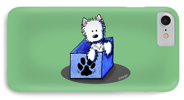Boxed In Cuteness IPhone Case by Kim Niles