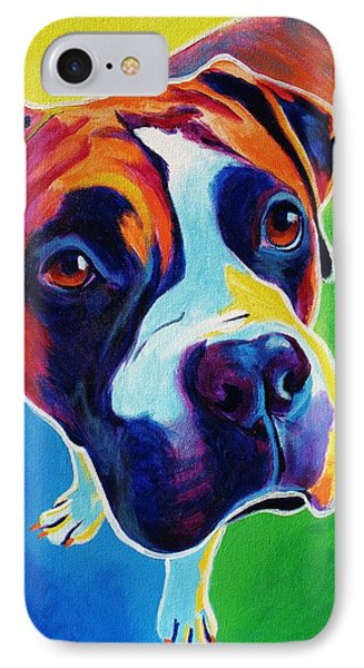 Boxer - Leo IPhone Case by Alicia VanNoy Call