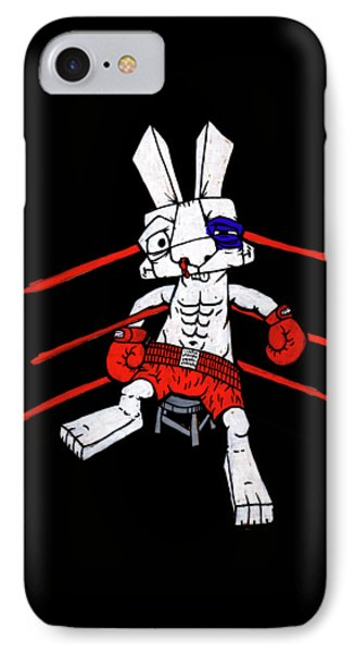 Boxer Bunny IPhone Case by Bizarre Bunny