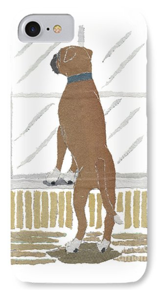Boxer Dog Art Hand-torn Newspaper Collage Art Phone Case by Keiko Suzuki Bless Hue
