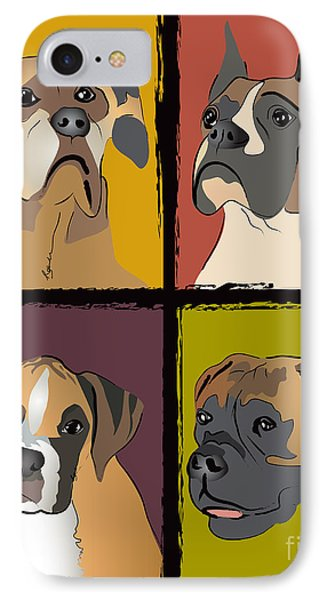 Boxer Dog Portraits Phone Case by Robyn Saunders
