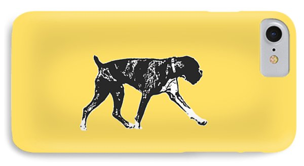 Boxer Dog Tee IPhone Case by Edward Fielding