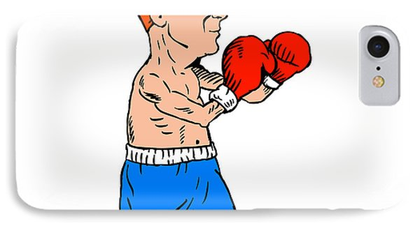 Boxer Fighting Stance Cartoon IPhone Case