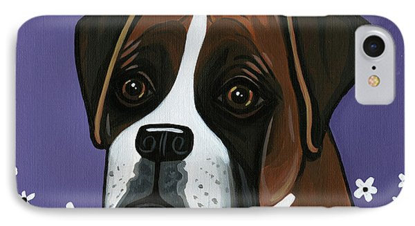 Boxer IPhone Case by Leanne Wilkes