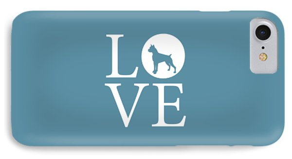Boxer Love IPhone Case by Nancy Ingersoll