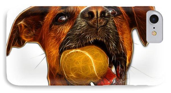 Boxer Mix Dog Art - 8173 - Wb Phone Case by James Ahn
