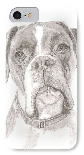 Boxer Phone Case by Rebecca Vose