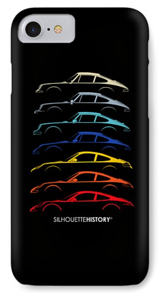 Boxer Sports Car Silhouettehistory IPhone Case by Gabor Vida