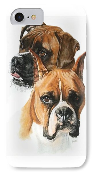Boxers Phone Case by Barbara Keith