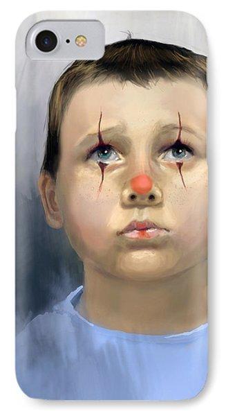 Boy Clown IPhone Case by Angela Murdock