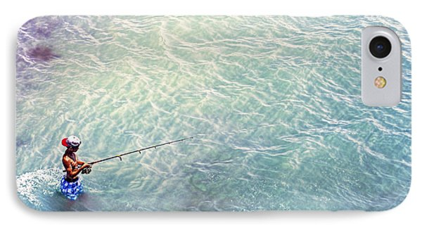 Boy Fishing IPhone Case by Glenn Gemmell
