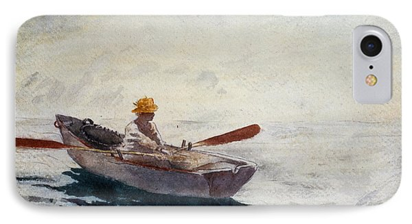Boy In A Boat IPhone Case by Winslow Homer