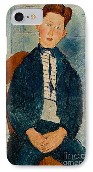 Boy In A Striped Sweater, 1918 IPhone Case
