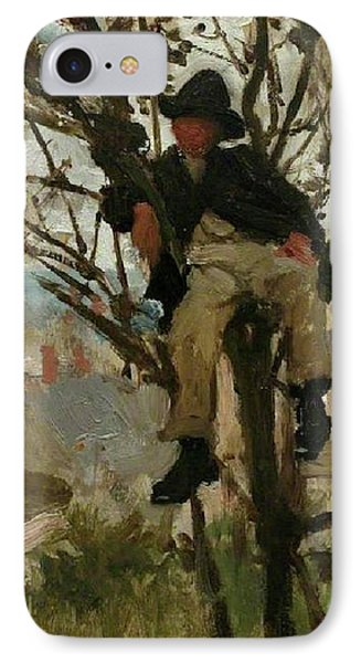 IPhone Case featuring the painting Boy In A Tree by Henry Scott Tuke