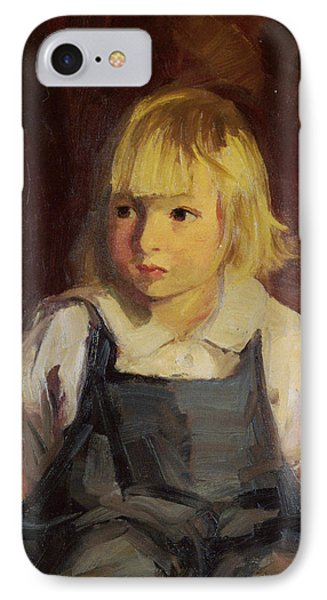 Boy In Blue Overalls Phone Case by Robert Henri