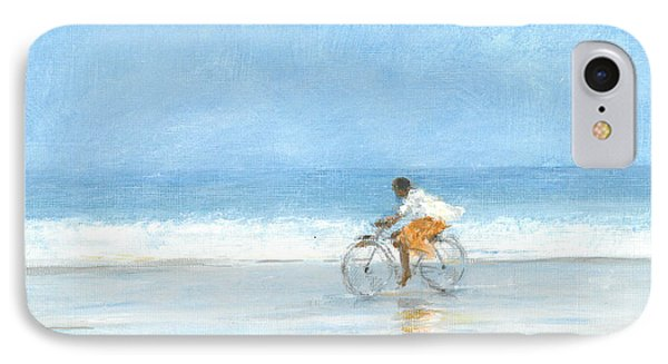 Boy On A Bike  One IPhone Case by Lincoln Seligman