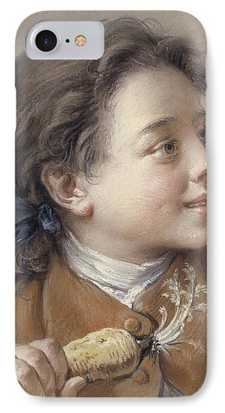 Boy With A Carrot, 1738 IPhone 7 Case by Francois Boucher