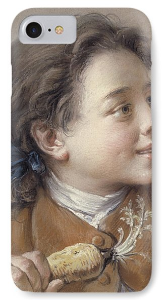Boy With A Carrot, 1738 IPhone Case by Francois Boucher