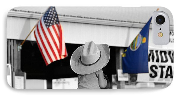 Boy With Two Flags IPhone Case by Catherine Sherman