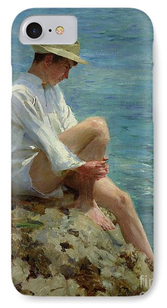 Boys Bathing IPhone Case by Henry Scott Tuke