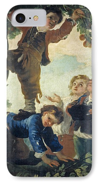 Boys Catching Fruit IPhone Case by Francisco Goya
