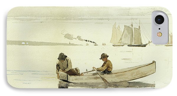 Boys Fishing, Gloucester Harbor, 1880  IPhone Case