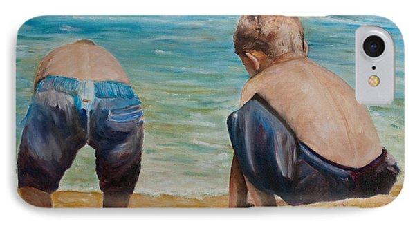 Boys On A Beach IPhone Case