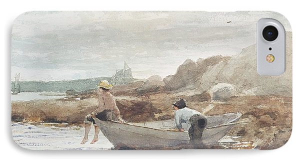 Boys On The Beach IPhone Case by Winslow Homer