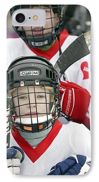 Boys Playing Ice Hockey Phone Case by Ria Novosti