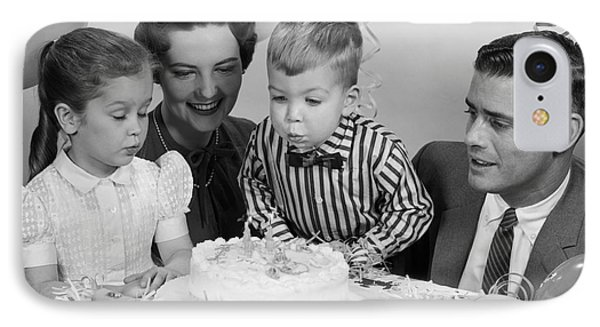 Boys Second Birthday Party, C.1950s IPhone Case by H. Armstrong Roberts/ClassicStock
