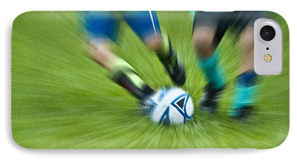 Boys Soccer Phone Case by John Greim