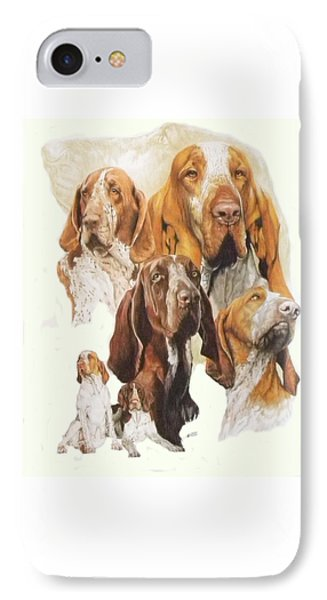 Bracco Italiano W/ghost IPhone Case by Barbara Keith