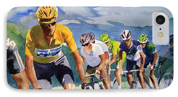 Brad Wiggins In Yellow Phone Case by Shirley  Peters