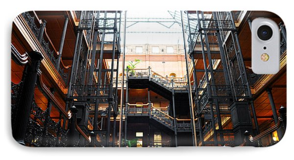 IPhone Case featuring the photograph Bradbury Building Los Angeles by Kyle Hanson