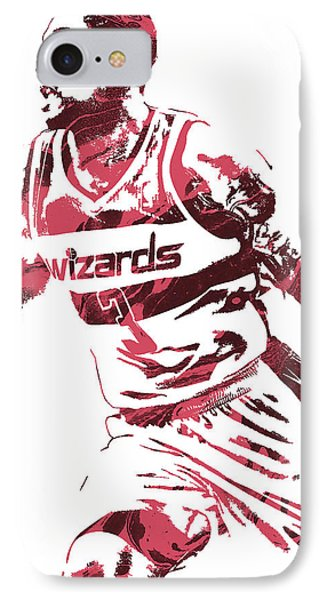 Bradley Beal Washington Wizards Pixel Art 3 IPhone Case