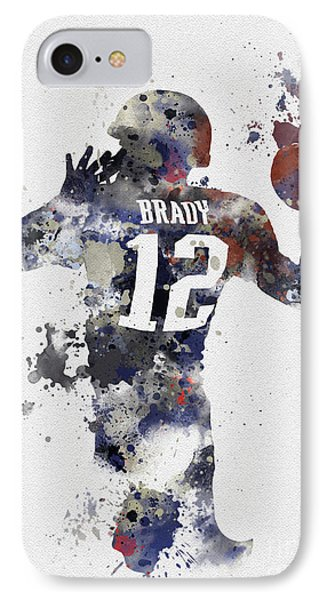 Brady IPhone 7 Case by Rebecca Jenkins