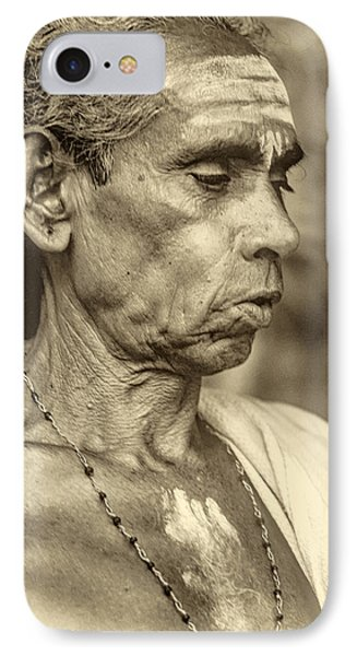 Brahmin Priest - Sepia IPhone Case by Steve Harrington