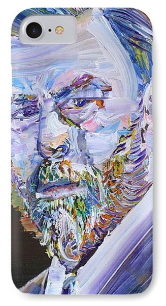 IPhone Case featuring the painting Bram Stoker - Oil Portrait by Fabrizio Cassetta