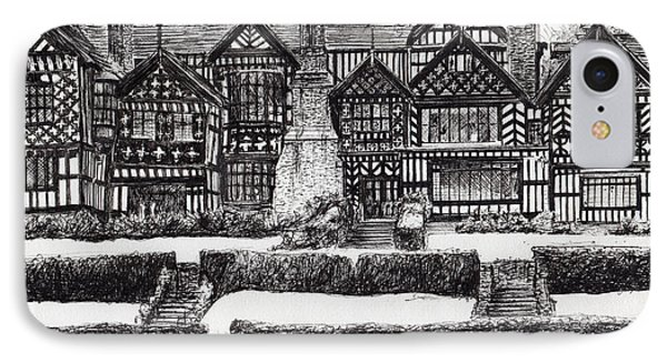 Bramall Hall IPhone Case by Vincent Alexander Booth