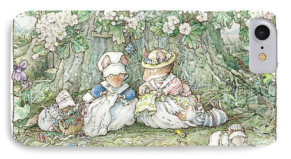 Brambly Hedge - Hawthorn Blossom And Babies IPhone Case by Brambly Hedge