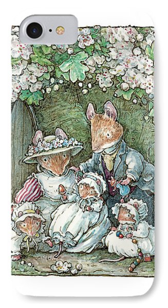 Brambly Hedge - Poppy Dusty And Babies IPhone Case by Brambly Hedge